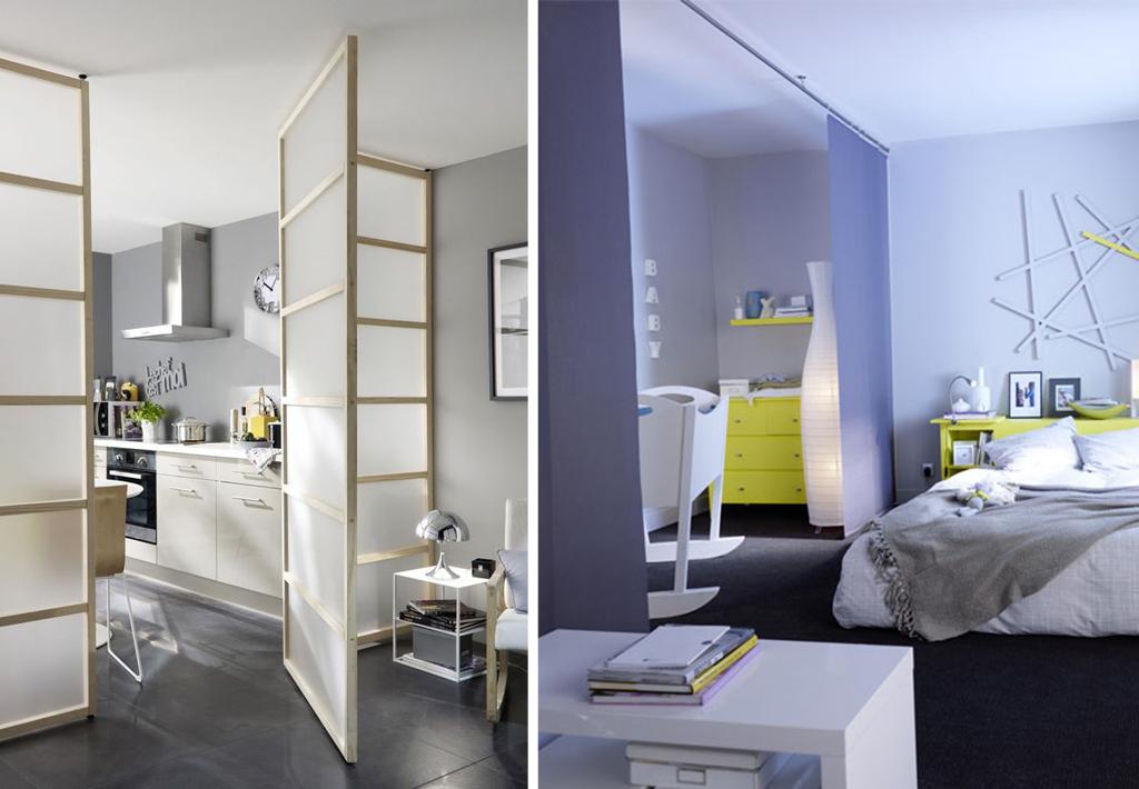 separation de piece sans percage id es de travaux. Black Bedroom Furniture Sets. Home Design Ideas