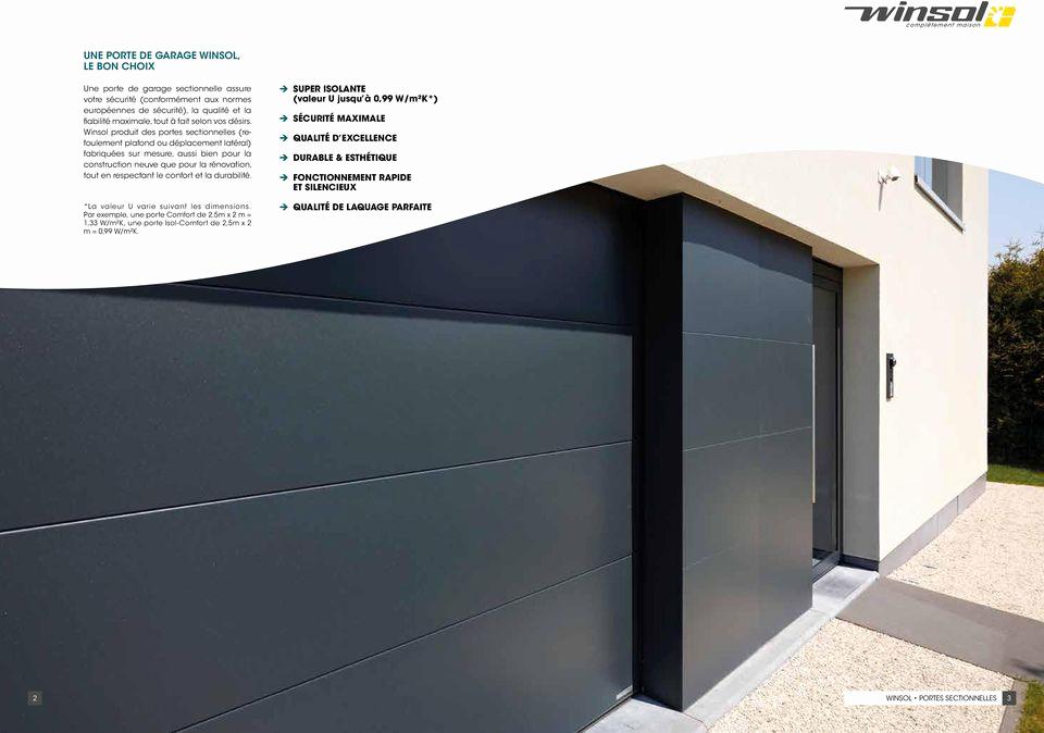porte de garage sectionnelle motoris e excellence id es de travaux. Black Bedroom Furniture Sets. Home Design Ideas