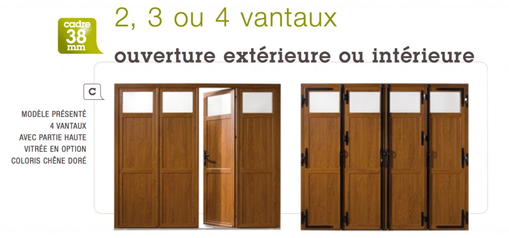 porte de garage 4 vantaux bois sur mesure id es de travaux. Black Bedroom Furniture Sets. Home Design Ideas