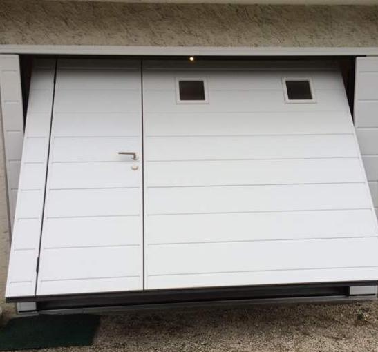Porte de garage pas cher avec portillon id es de travaux - Porte de garage avec portillon pas cher ...