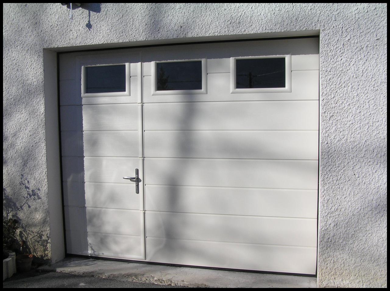 Porte De Garage Hormann Lpu40 Avec Portillon Idées De Travaux