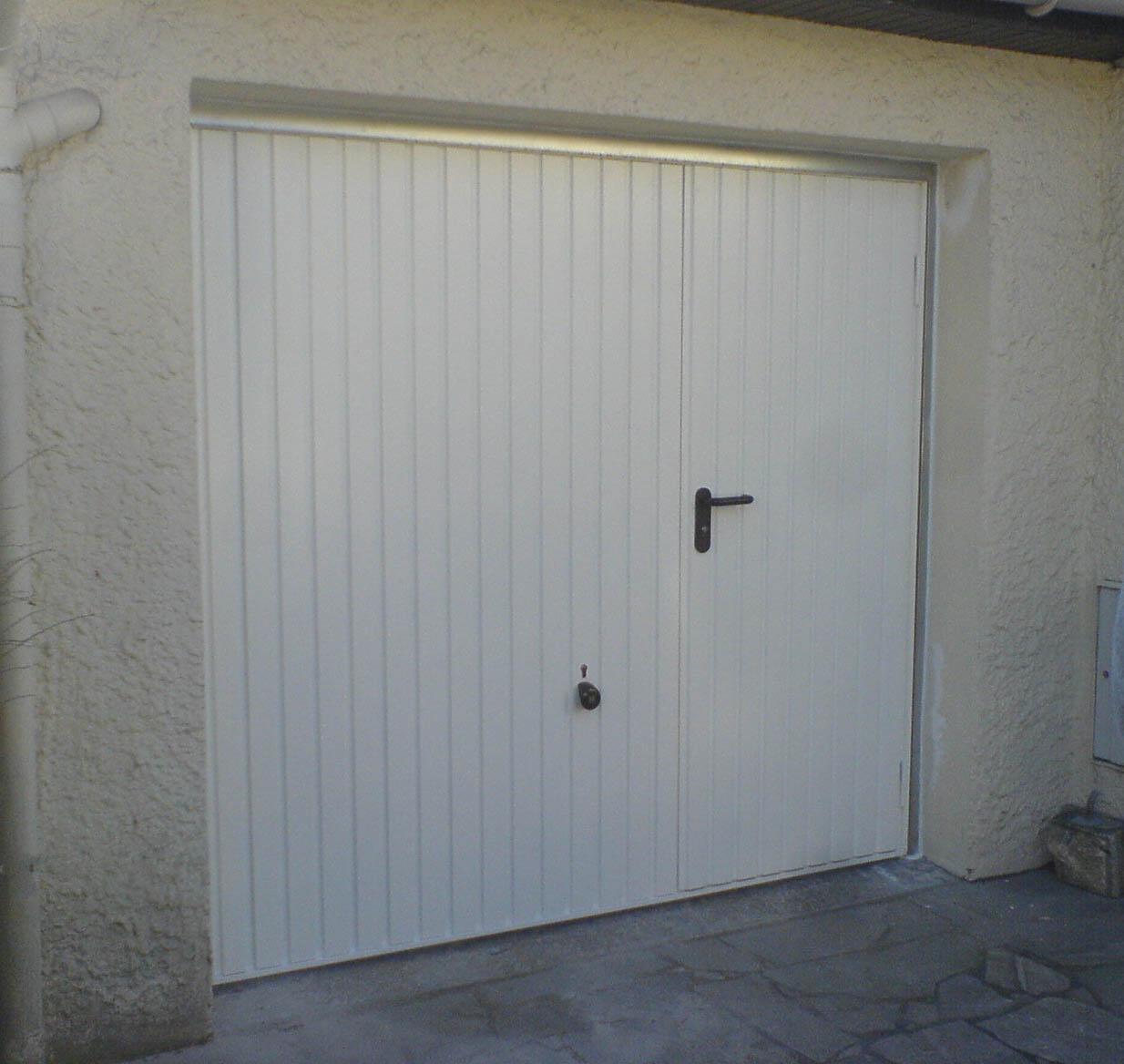Porte de garage hormann avec portillon basculante id es de travaux - Porte de garage basculante avec portillon brico depot ...