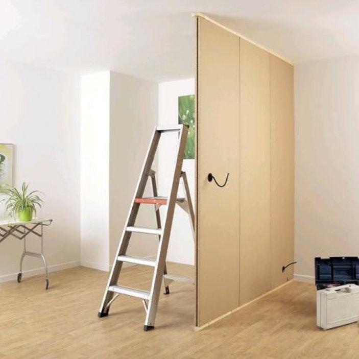 poser une cloison amovible id es de travaux. Black Bedroom Furniture Sets. Home Design Ideas