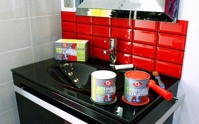 Peinture rouge laqu pour meuble cuisine id es de travaux - Meuble cuisine rouge laque ...