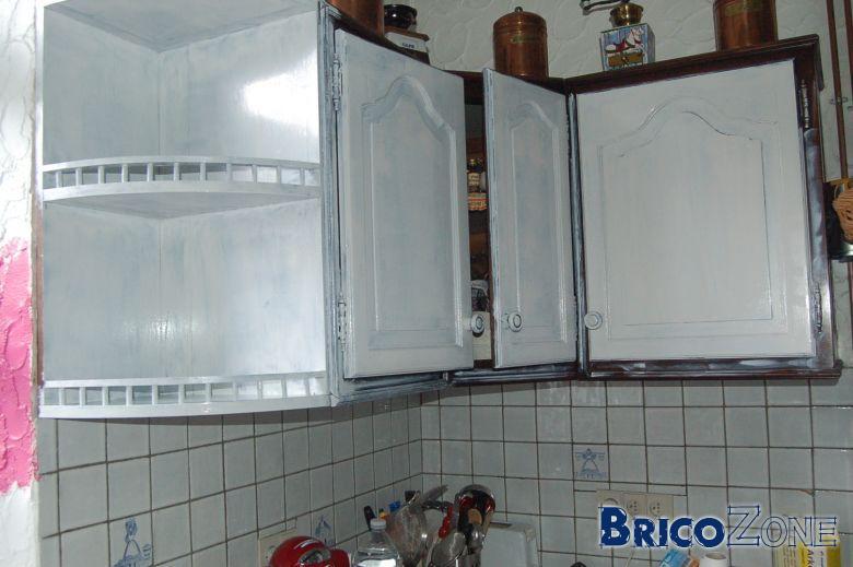 Peinture meuble cuisine blanc laqu id es de travaux - Peinture laque pour cuisine ...