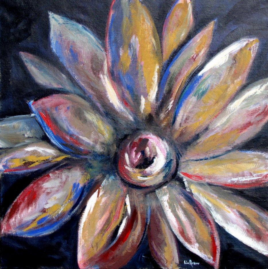 Peinture Acrylique Fleurs Idées De Travaux