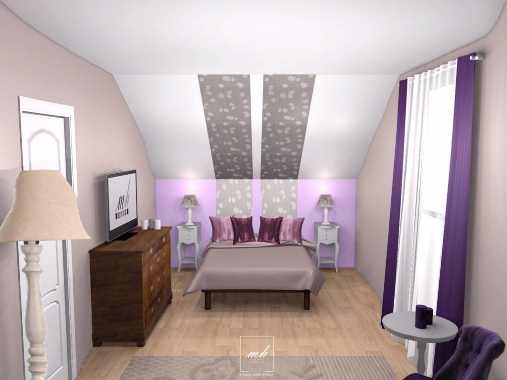 Deco peinture chambre sous comble - Idées de travaux