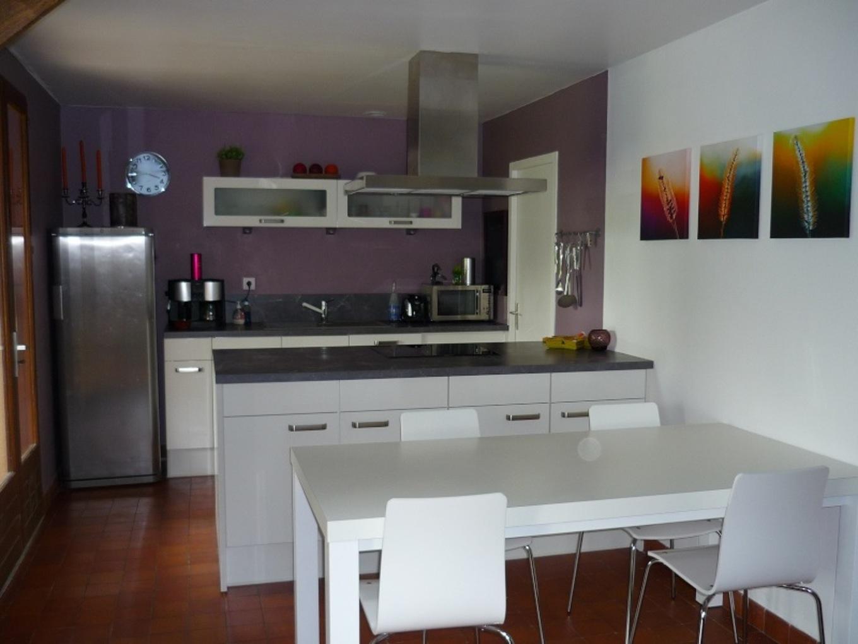 idee peinture avec cuisine noire id es de travaux. Black Bedroom Furniture Sets. Home Design Ideas