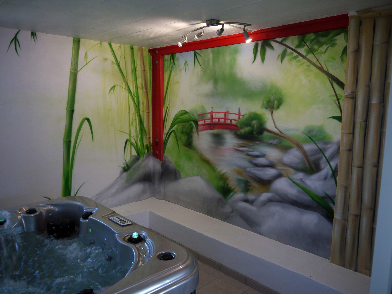 Decoration peinture japonaise id es de travaux - Deco japonaise maison ...