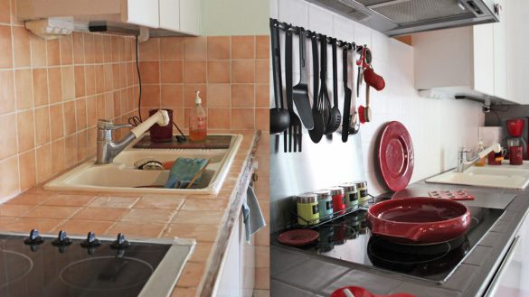 peinture faience cuisine mr bricolage id es de travaux. Black Bedroom Furniture Sets. Home Design Ideas
