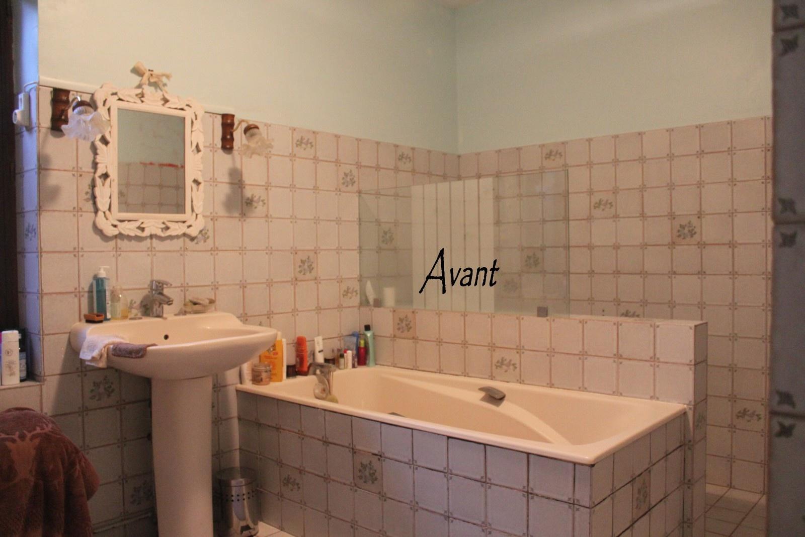 Peinture carrelage salle de bain noir - Idées de travaux