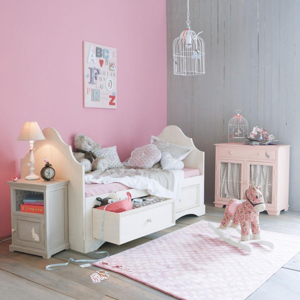 Deco Peinture Chambre Gris Et Rose