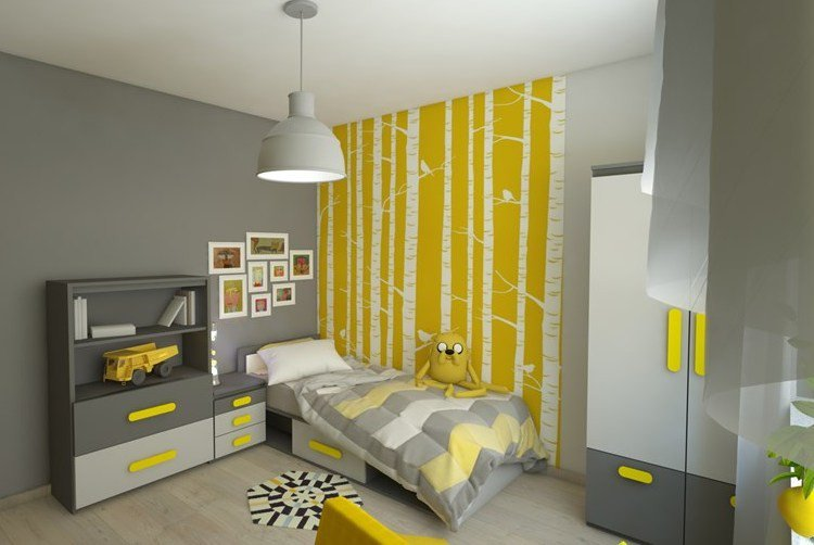 peinture deco jaune id es de travaux. Black Bedroom Furniture Sets. Home Design Ideas