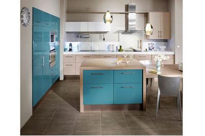 Peinture cuisine bicolore id es de travaux - Cuisine bicolore ...