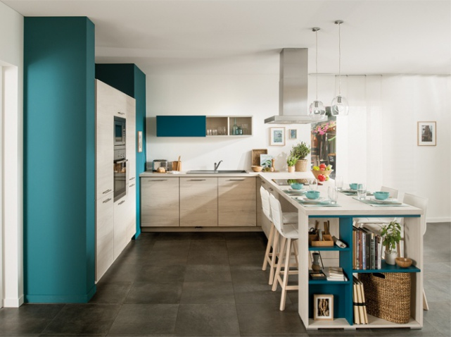 peinture cuisine vert canard id es de travaux. Black Bedroom Furniture Sets. Home Design Ideas