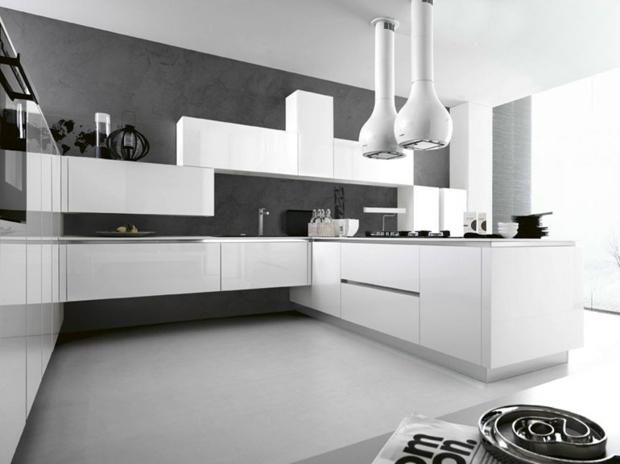 peinture grise cuisine blanche id es de travaux. Black Bedroom Furniture Sets. Home Design Ideas