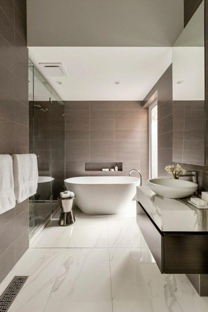 Peinture pour carrelage salle de bain taupe id es de travaux - Peinture pour plafond salle de bain ...
