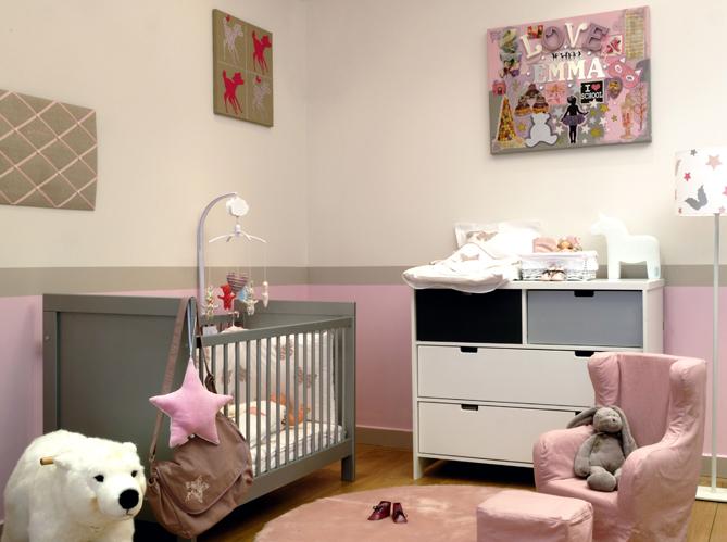 Peinture deco chambre bebe fille - Idées de travaux