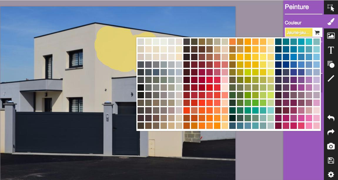 Peinture facade maison simulation   Idées de travaux