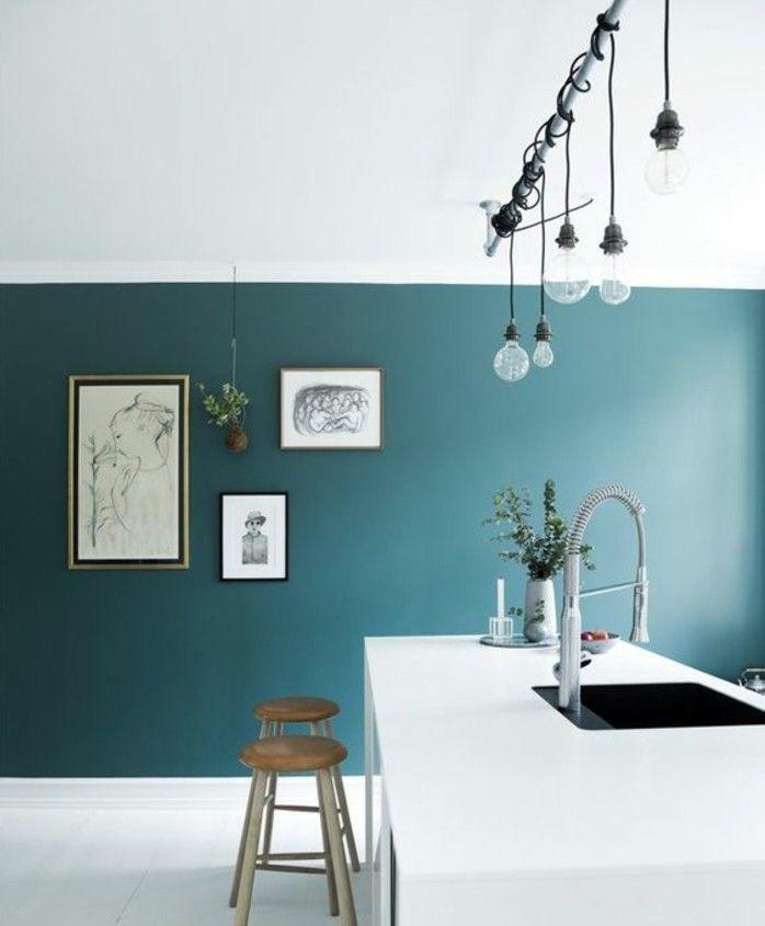 Peinture cuisine bleu turquoise - Idées de travaux