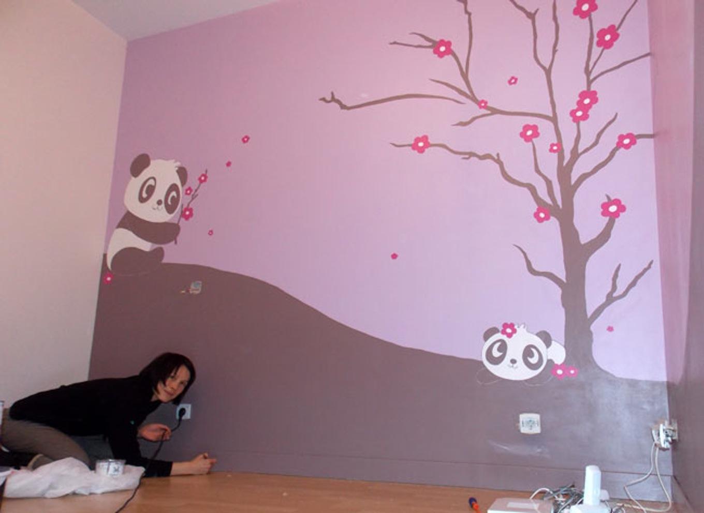 Déco peinture murale chambre bébé - Idées de travaux