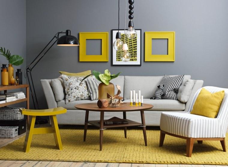 Deco peinture salon jaune - Idées de travaux