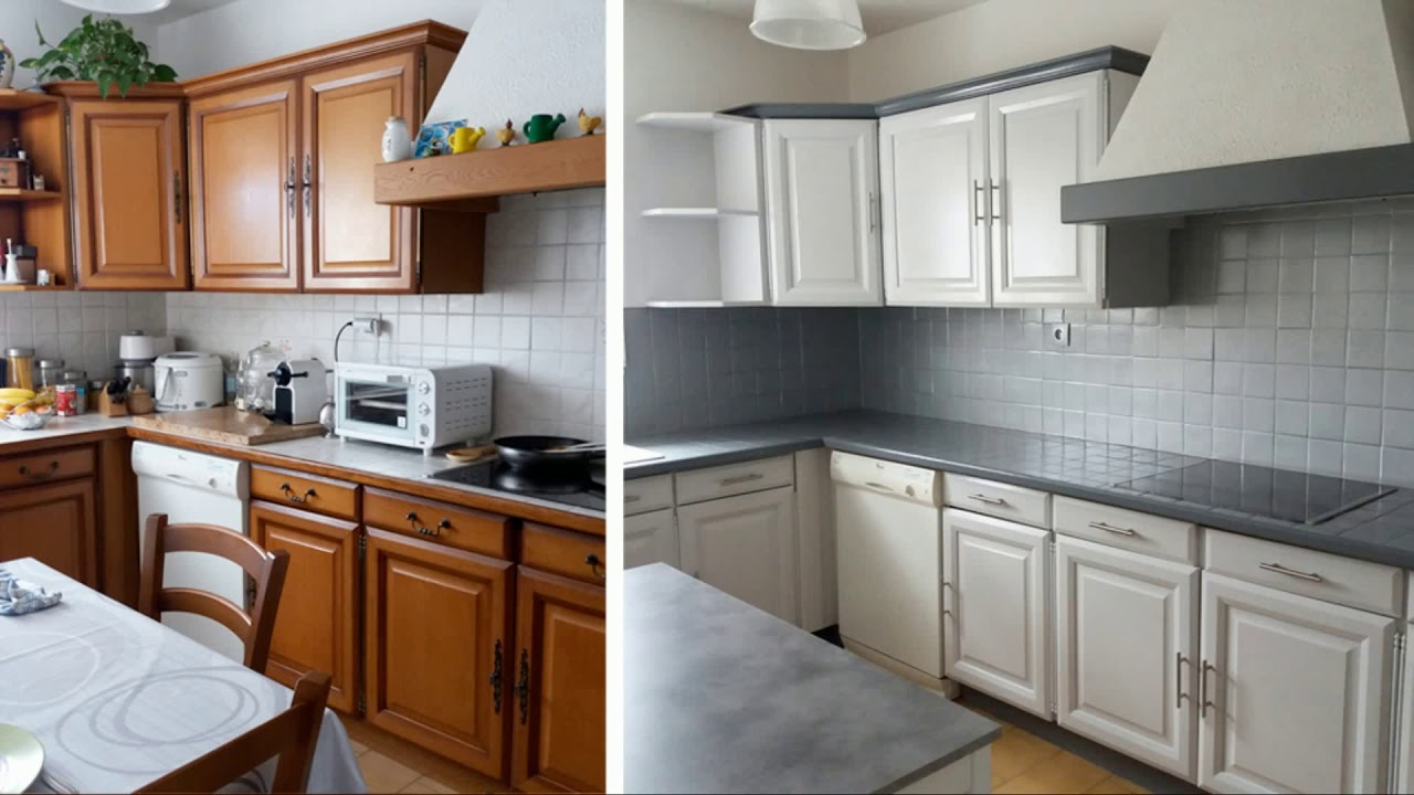 Peinture cuisine meuble en bois id es de travaux - Meuble cuisine independant bois ...