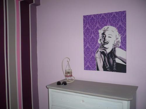 Deco peinture chambre aubergine - Idées de travaux