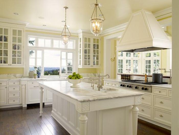 Awesome Cuisine Peinte En Jaune Pictures - House Design ...