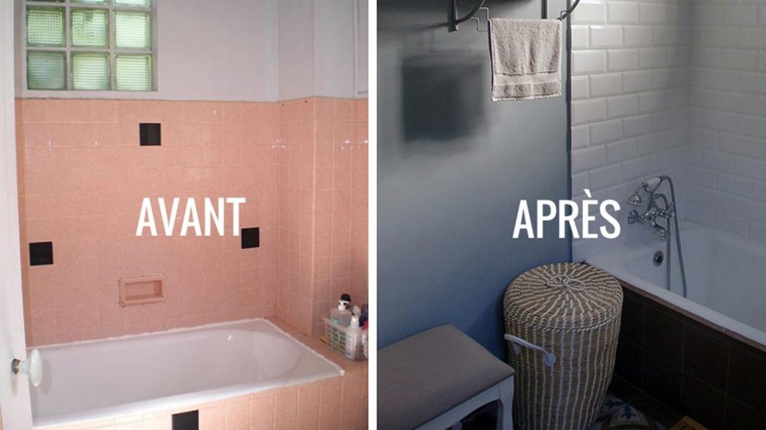 Peindre le carrelage salle de bain - Idées de travaux