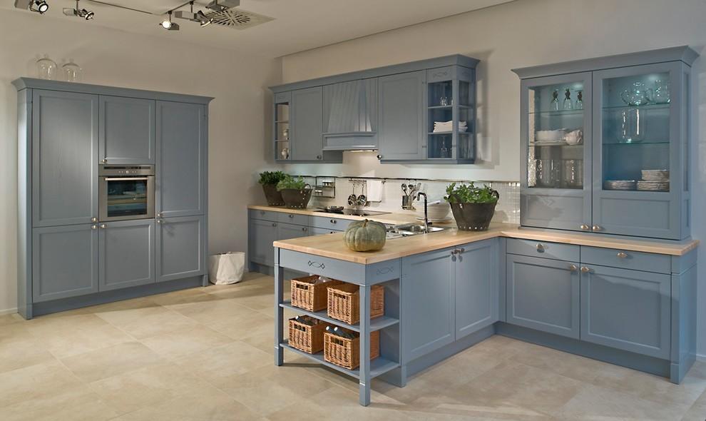 Peinture meuble de cuisine bleu - Idées de travaux