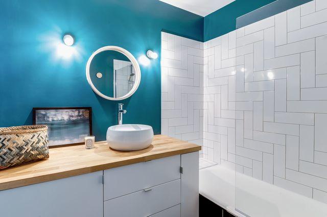 Peinture carrelage salle de bain bio - Idées de travaux
