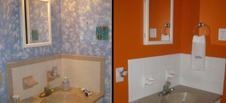 Peinture carrelage salle de bain blanc - Idées de travaux