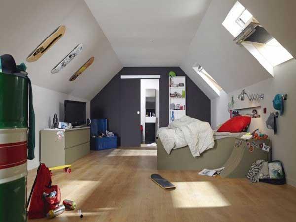 Deco peinture chambre comble - Idées de travaux