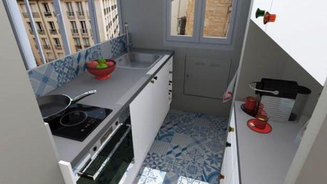Deco peinture petite cuisine
