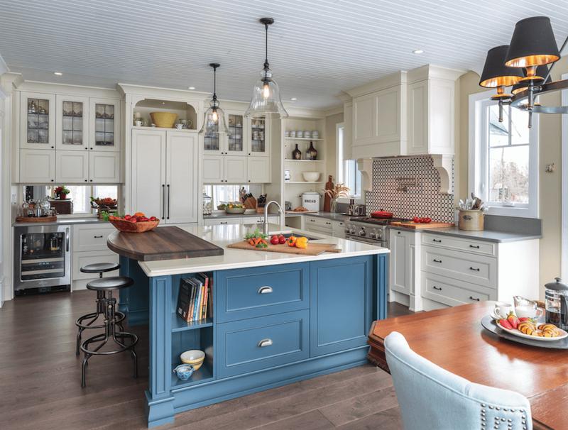 Peinture meuble cuisine bleu marine id es de travaux - Cuisine bleu marine ...