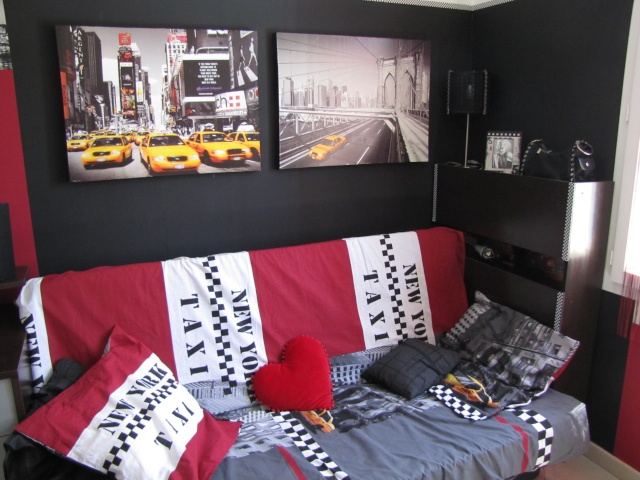 deco peinture chambre new york id es de travaux. Black Bedroom Furniture Sets. Home Design Ideas