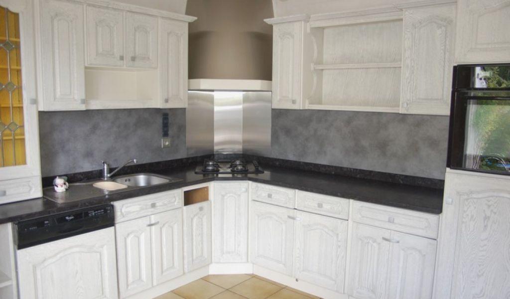 repeindre une cuisine en chene avant apres id es de travaux. Black Bedroom Furniture Sets. Home Design Ideas