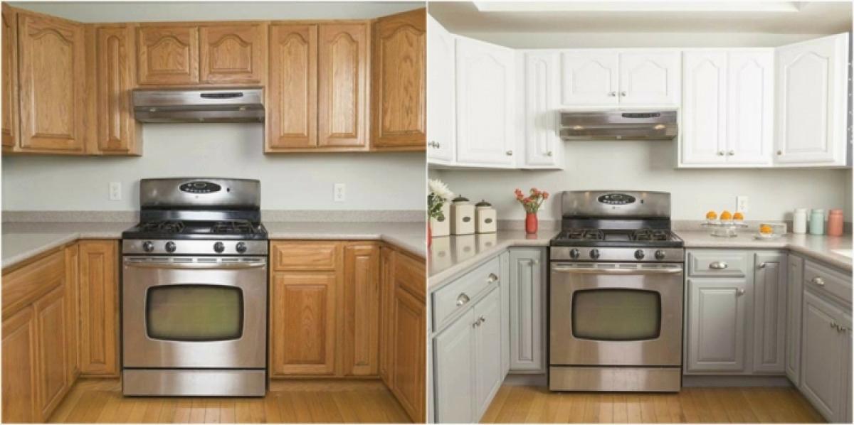 peindre cuisine en bois avant apres id es de travaux. Black Bedroom Furniture Sets. Home Design Ideas