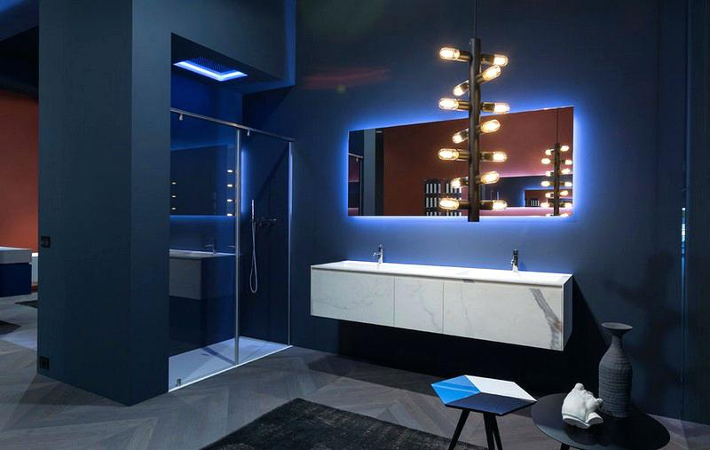 peinture carrelage mural bleu marine id es de travaux. Black Bedroom Furniture Sets. Home Design Ideas