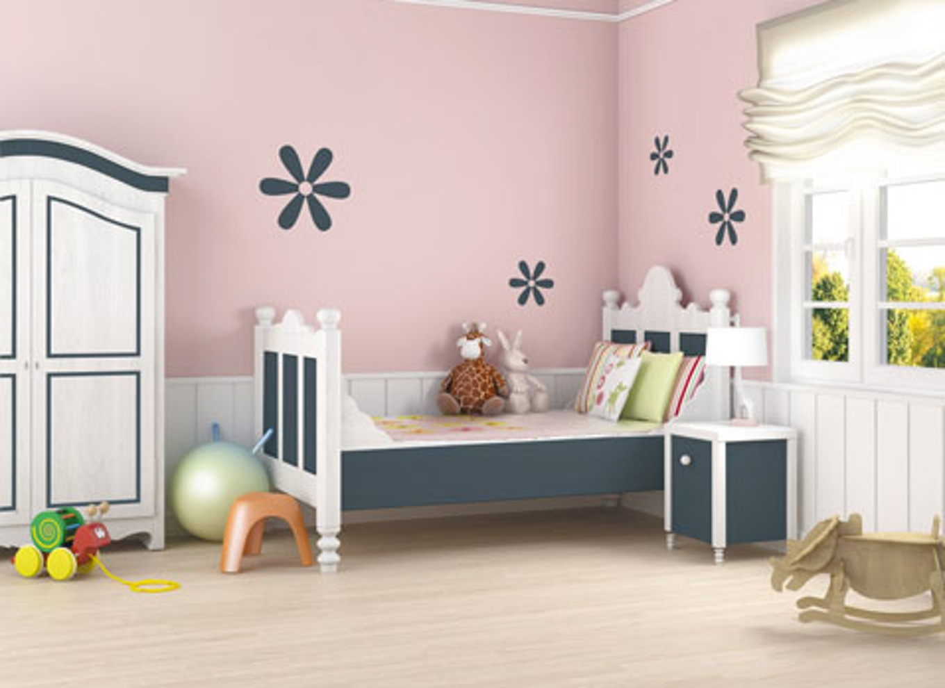 deco peinture mur chambre bebe id es de travaux. Black Bedroom Furniture Sets. Home Design Ideas