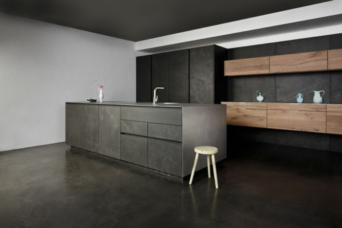 peinture sol bois cuisine id es de travaux. Black Bedroom Furniture Sets. Home Design Ideas