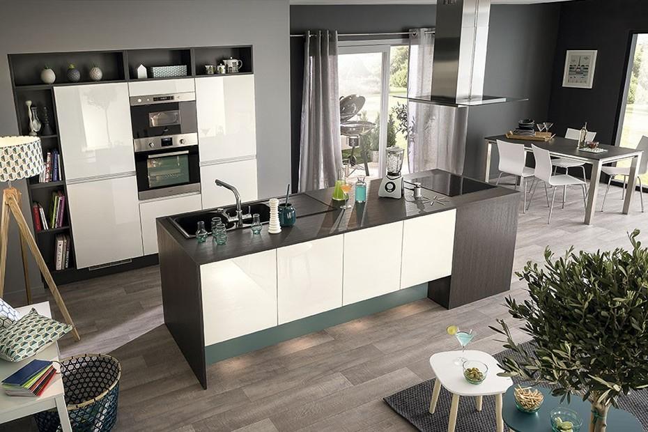 tendance peinture cuisine 2018 id es de travaux. Black Bedroom Furniture Sets. Home Design Ideas