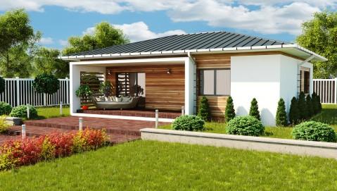 Plan de petite maison de luxe