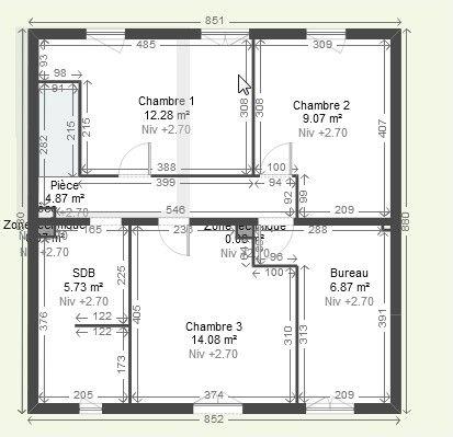Plan de maison 3 chambres plein pied - Idées de travaux