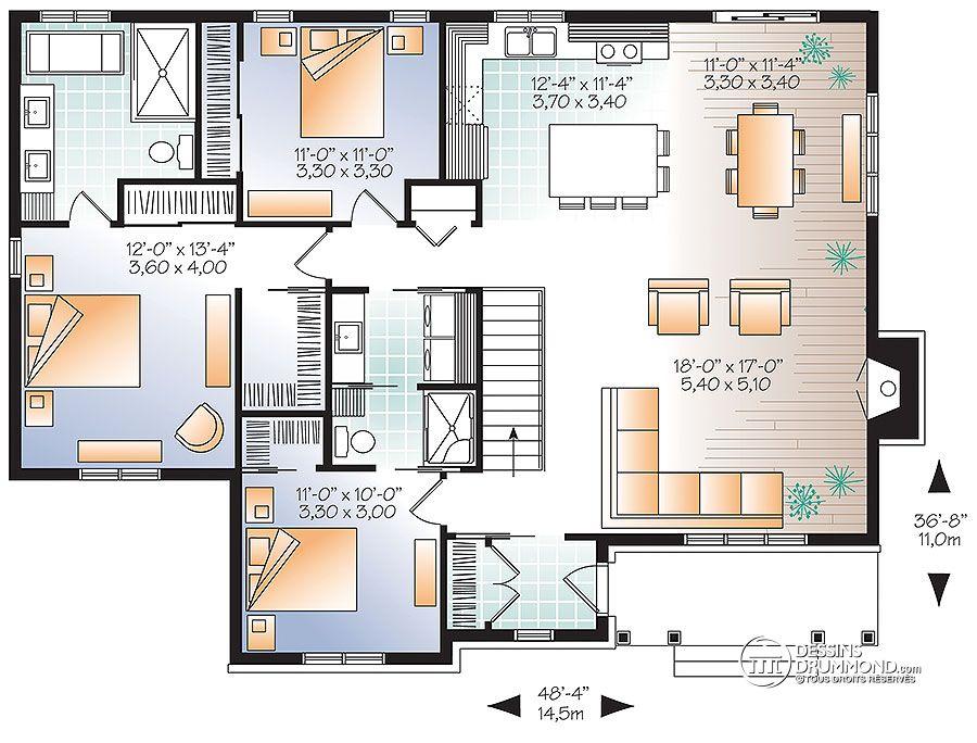 Plan De Maison Simple 4 Chambres Avec Garage Idees De Travaux