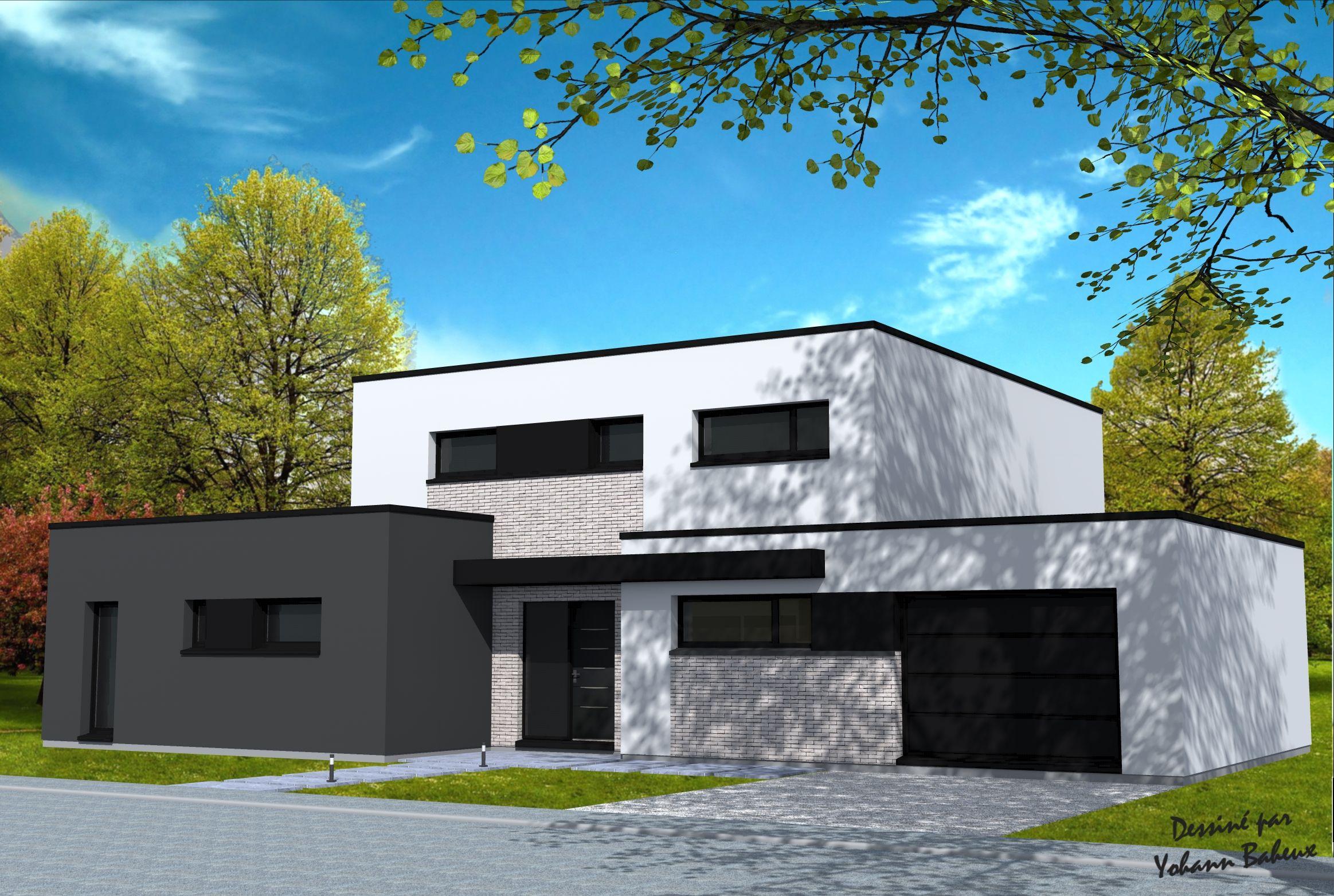 Plan de maison moderne cube - Idées de travaux