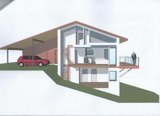 plan de maison avec terrain en pente id es de travaux. Black Bedroom Furniture Sets. Home Design Ideas