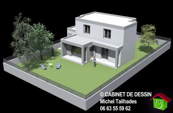 plan de maison maison du midi id es de travaux. Black Bedroom Furniture Sets. Home Design Ideas