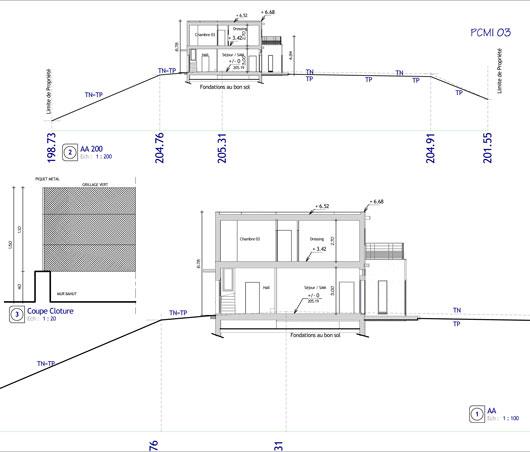 Plan Coupe Maison: Plan En Coupe De Maison